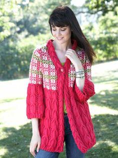 Swingy Cardigan   Yarn   Free Knitting Patterns   Crochet Patterns   Yarnspirations
