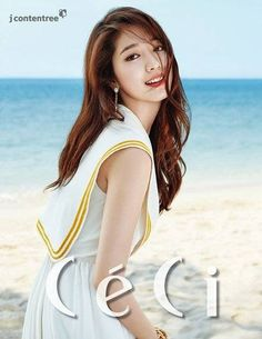 Park Shin Hye becomes a beach goddess in colorful dresses for 'CeCi' | http://www.allkpop.com/article/2015/02/park-shin-hye-becomes-a-beach-goddess-in-colorful-dresses-for-ceci
