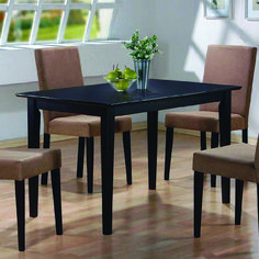 5 PC Espresso Brown 4 Person Table and Chairs Brown Dining Dinette - Espresso Brown and Beige Parson Chair 4 Person Espresso Brown Dining Table Set Formal Dining Tables, Dining Table Legs, Dining Room Sets, Dining Table In Kitchen, Dining Room Design, Dining Room Furniture, Table And Chairs, Office Furniture, Furniture Logo