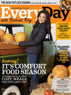 Candis on our October issue: Our Rachael not only features the 5 real-life haunted houses (legitimized by real-life murders!) but also 50 things you can do with a pumpkin! Things I never would have even thought of! Like turning a pumpkin into a speaker and making them into a bean-bag toss game. Delicious & fun for the whole family? Pumpkin, I hardly knew thee.