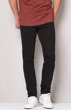 Stacked Skinny Black Stretch Jeans