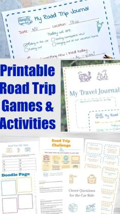 Printable road trip games and activities -- fun things for kids to do in the car and for family vacations! Ideas like Ispy scavenger hunts travel journal and more non-tech ideas to keep kids and tweens busy & happy on the trip! My Road Trip, Road Trip With Kids, Family Road Trips, Family Vacations, Summer Vacations, Family Travel, Road Trip Activities, Road Trip Games, Activities For Kids