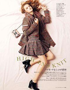 visual optimism; fashion editorials, shows, campaigns & more!: high end knit: milana kruz by takaki kumada for elle japan november 2013