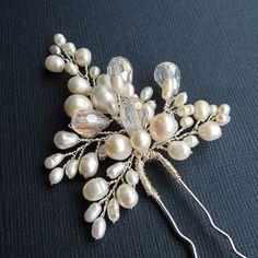 Bridal Flower Hair Pin ANN Hair Pin Wedding от adrianasparksacc