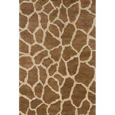 Serengeti Giraffe Rectangular: 5 ft. 3 in. x 8 ft. Rug