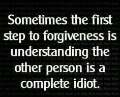 a step to forgiveness