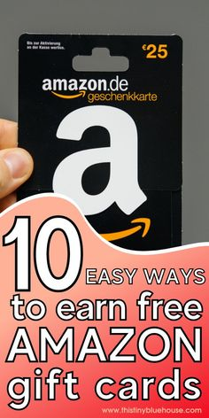 Earn Amazon gift cards for free with these 10 clever tips.  From rewards to survey sites these free ways to get Amazon gift cards is fun and easy. Grocery Savings Tips, Money Saving Mom, Work From Home Opportunities, Managing Your Money, Free Gift Cards, Amazon Gifts, Budgeting Tips, Ways To Save Money, Extra Money