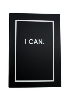 I Can, I Will reversible notebook. Perfect for writing down all the things you are going to accomplish! $6