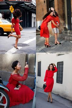 If You're Thinking About….Spring!….Red Dresses « The Sartorialist