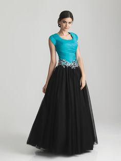 Night Moves Modest Splendor MODEST PROM DRESS Totally Modest WEDDING dresses, PROM & Bridesmaid dresses w/ sleeves