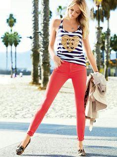 coral skinny jeans lindsay_ellingson