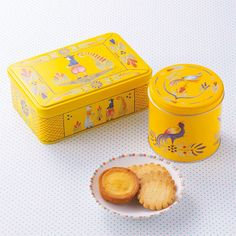 Country French inspired illustrated tins by Le Bretagne Creperie Tokyo Japanese Snacks, Digital Signage, Visual Identity, Brand Identity, Branding, Corporate Design, French Country, Packaging Design, Google