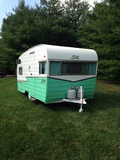 1959 Shasta camper-mint color. Painting LuLu this color scheme. With a little red trim.
