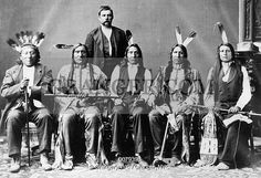NATIVE AMERICAN DELEGATION. Delegation led by Oglala Sioux chief Red Cloud, photographed at Washington