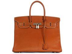 Hermès Cognac Birkin 35 - $13000