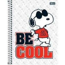 Caderno universitário espiral Snoopy Tilibra 200 folhas