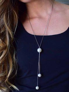 Jillian Pearl Drop Necklace