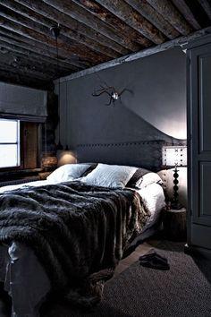 41 Unique Horror Decor For Young Mens Bedroom Ideas Bedroom Black, Men Bedroom, Bedroom Ideas, Mirror Bedroom, Bedroom Decor, Bedroom Corner, Cozy Bedroom, Lodge Bedroom, Bedroom Headboards