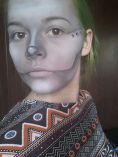 The Tinman from the Wizard of Oz!  This was practise for my friend's makeup in the production we were in.