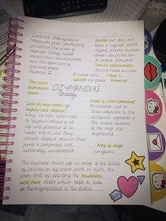 GCSE English lit revision- Ozymandias - New Deko Sites English Gcse Revision, Gcse Science Revision, Gcse English Language, Exam Revision, Revision Guides, Revision Notes, Study Notes, Book Notes, Korean Language