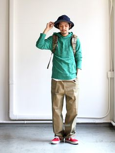 ISLAND_KNIT_WORKS_20160228IMG_7218 Japan Fashion, Boy Fashion, Runway Fashion, Fashion Looks, Mens Fashion, Fashion Outfits, Chinos Men Outfit, Engineered Garments, Japanese Outfits