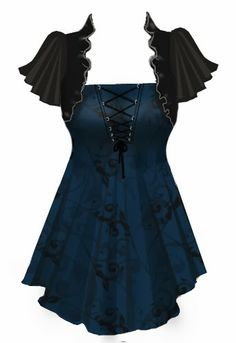 Love this gothic, steampunk flair top // style // t shirt // blouse // clothes // fashion
