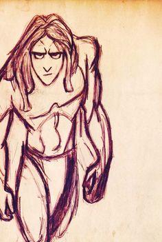 Tarzan - sketch - disney wallpaper