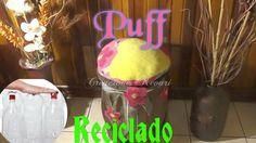 Puff Reciclado con Botellas Plasticas/Plastic Bottle Puff