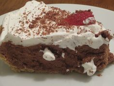 No Bake Chocolate Pie w/ #COOLWHIP via @sharibrooks