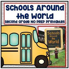 Journeys 2nd Grade- Schools Around the World Unit 3 Lesson 13 NO PREP Printables