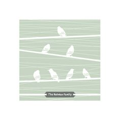Birds of a Feather Flock Together by Serenity Avenue for Minted // WANT for stair gallery