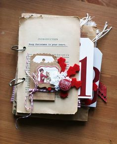 Ladies, you have to check out this wonderful, Shabby Chic December Daily album. I love how this has such a junk journal look. It's pulled together using a variety of eclectic supplies, provin…