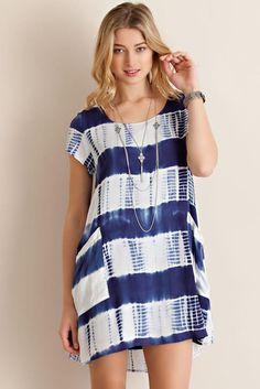 Entro USA Tie Dye Shift Dress