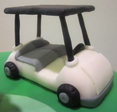 """Exceptional """"Golf Cart"""" info is available on our web pages. Check it out and you will not be sorry you did. Golf Birthday Cakes, Sports Themed Cakes, Foundant, Retirement Cakes, Cake Pop Sticks, Sport Cakes, Chocolate Fondant, Fondant Tutorial, Cake Decorating Techniques"""