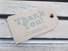 100 Count Thank You - Customer appreciation tags - Business Tags - medium size - customizable - Personalize via Etsy