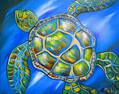 easy sea turtle painting – Google Search