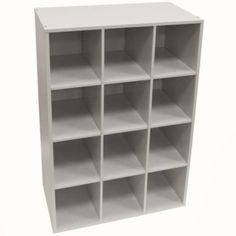 Pigeon Hole - Shoe Storage / Display / Media Shelves - White
