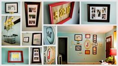 Love this idea.:)  We will be doing something like this going down our hallway but using old pictures from both sides of our family.:)