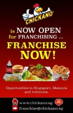 CHICKANO is storming the food industry in Singapore, Malaysia and Indonesia. CHICKANO is determine to build the next emerging brand in ASIA.  #FastFood #Franchise #Kiosk #Restaurant