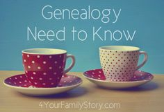 9 #Genealogy Things You Need to Know Today, Tuesday, 3 June 2014, via 4YourFamilyStory.com. #needtoknow #familytree