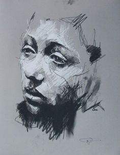 Guy Denning (born is a self taught English contemporary artist and painter based in France. He is the founder of the Neomodern. Life Drawing, Figure Drawing, Drawing Sketches, Painting & Drawing, L'art Du Portrait, Ap Art, Art Graphique, Drawing People, Contemporary Artists