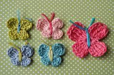 How to Crochet a Butterfly from littlebirdiesecrets.com ~ free pattern