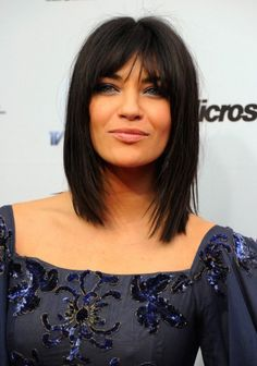 Jessica Szohr Medium Straight Hairstyle With Bangs Hairstyles Design 401x572 Pixel