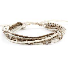 Chan Luu - Bronze Mix Multi Strand Bracelet on Vanilla Cord, $100.00 (http://www.chanluu.com/bracelets/bronze-mix-multi-strand-bracelet-on-vanilla-cord/)