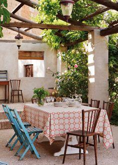 Pergola In Front Of House Refferal: 7838509381 Outdoor Rooms, Outdoor Dining, Outdoor Gardens, Outdoor Furniture Sets, Outdoor Decor, Rustic Pergola, Pergola Patio, Pergola Plans, Pergola Ideas