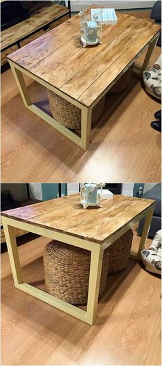 This wood pallet lovely table design is the creative art work where the simplicity and brilliance designing is at its top peak. Arrangement of the planks has been all carried out in the fantastic formations that make this table design as perfect for coffee purpose in your house.