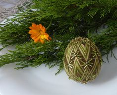 Embroidered egg, Temari,  Ukraine, pysanka, folk tradition, Easter, beading, egg-formed Temari.   This little thing can become an elegant decoration of your home, and can be a wonderful gift for a loved one.