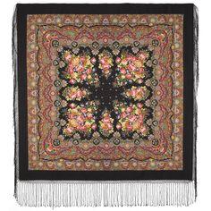 "Pure Merino Woolen shawl Elite Huge Wrap PAVLOVO POSAD Scarf 148cm/ 58"" Russian"