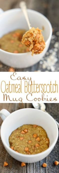 Easy Oatmeal Erscotch Mug Cookies