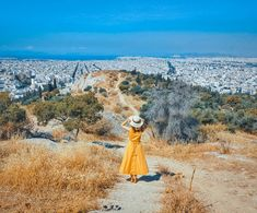 Philopappos Hill (also called the Hill of Musses) offers one of the best views over Athens. Beautiful Streets, Sandy Beaches, Travel Couple, Stunning View, Greek Islands, Historical Sites, Nice View, Wonderful Places, Beautiful Landscapes
